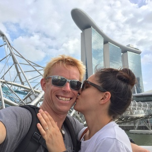 The couple in Singapore