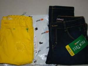 Yellow capris and blue denims from Gini & Jony