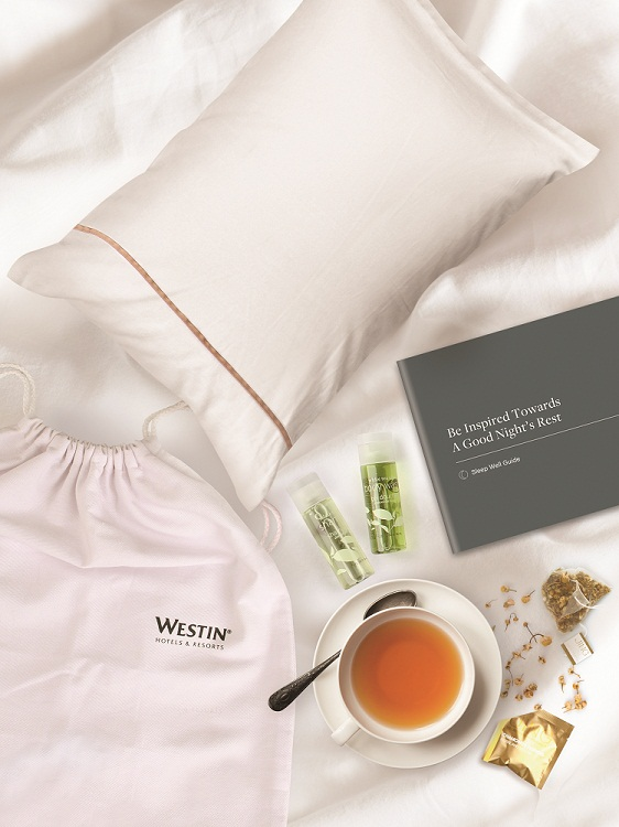 Specially customised 'Sleep Kits' by Westin Hotels & Resorts in celebrat...