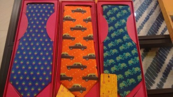 Ties in bright colours with offbeat patterns