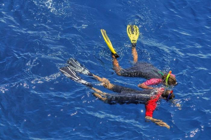Snorkelling au Cap la Houssaye
